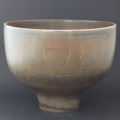 Unique Bowl from the fifties by Einar Lynge Ahlberg for Rörstrand
