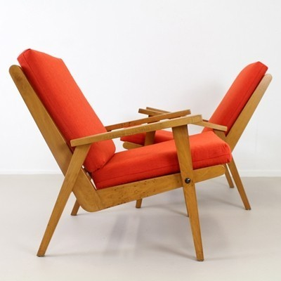 Set of 2 lounge chairs from the sixties by unknown designer for Gelderland