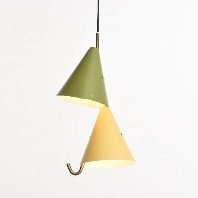 Hanging lamp by Simon Henningsen for Lyfa, 1950s