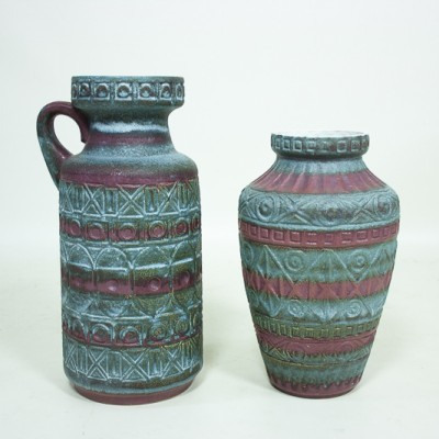 Pair of vases by Bodo Mans for Bay Keramik, 1960s