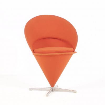 Cone dining chair by Verner Panton for Plus Linje, 1950s