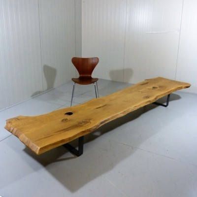 tree trunk coffee table 1990s