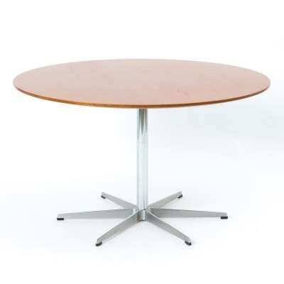 Circle dining table by Piet Hein & Bruno Mathsson for Fritz Hansen, 1950s