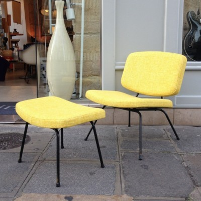 CM 190 lounge chair by Pierre Paulin for Thonet, 1950s