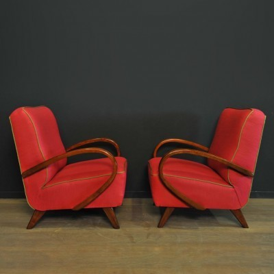 Pair of arm chairs by Jindřich Halabala for Thonet, 1930s