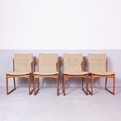 Set of 4 dinner chairs from the sixties by unknown designer for Vamdrup