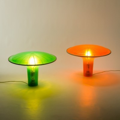 Pair of D36 Agaricon desk lamps by Rose Lovegove for Luceplan, 1990s