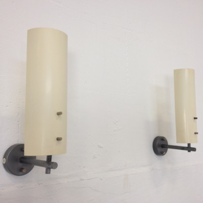 Set of 2 wall lamps from the fifties by J. Hoogervorst for Anvia Almelo