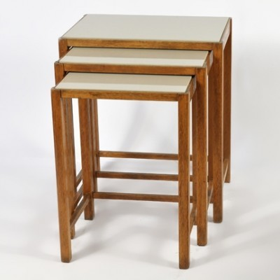 3 M - 48 nesting tables from the thirties by unknown designer for Thonet