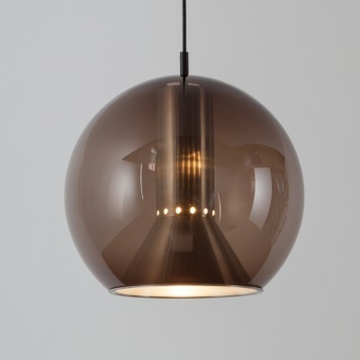 2 GLOBE (B-1042.00) hanging lamps from the sixties by Frank Ligtelijn for Raak Amsterdam