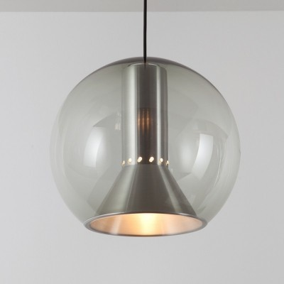 TRANSPARENT GLOBE (B-1042.00) hanging lamp by Frank Ligtelijn for Raak Amsterdam, 1960s