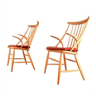 Set of 2 lounge chairs from the fifties by Illum Wikkelsø for Niels Eilersen