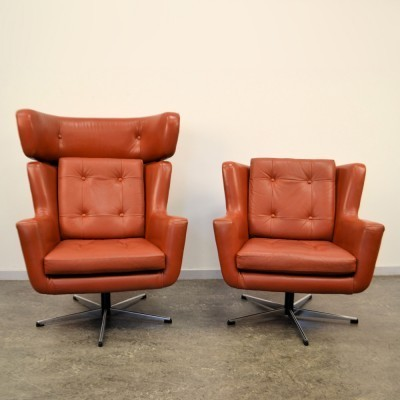 Pair of Skjold Sorensen lounge chairs, 1960s