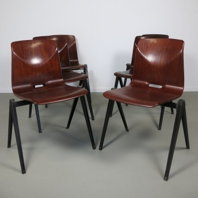 Set of 6 Thur-op-seat dining chairs by Flötotto, 1960s
