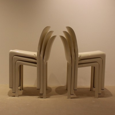 14 Selene dinner chairs from the sixties by Vico Magistretti for Artemide