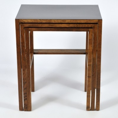 3 H - 50 nesting tables from the thirties by Jindřich Halabala for UP Závody Brno