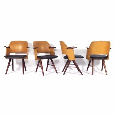 4 Fe30 dinner chairs from the fifties by Cees Braakman for Pastoe