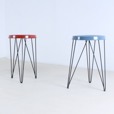 2 stools from the fifties by Tjerk Reijenga for Pilastro