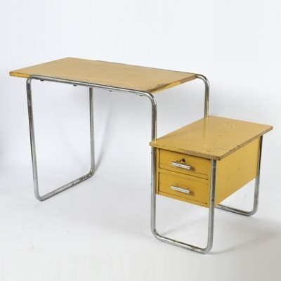 B 91 writing desk from the thirties by Marcel Breuer for Thonet