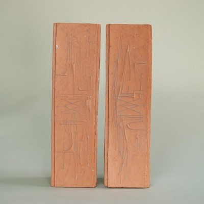 Pair Of Panel Sculptures by André Bizette Lindet, 1960s