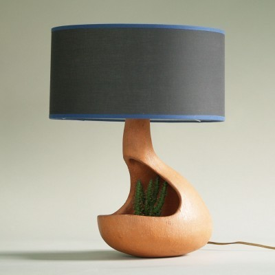 Biomorphic Lamp Planter desk lamp from the fifties by unknown designer for unknown producer