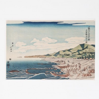 Japanese Etching Ukiyo-e art from the twenties by Shôtei Hokuju for unknown producer