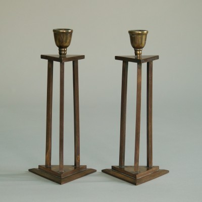 Vintage Neoclassical Candle Holders, 1920s