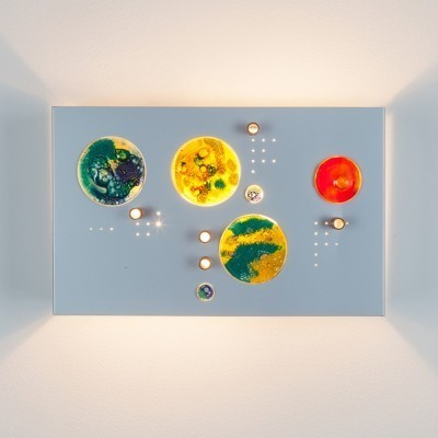 2 Collage wall lamps from the seventies by unknown designer for Raak Amsterdam