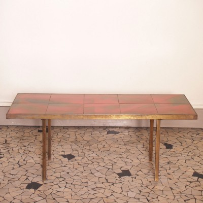 Coffee table by Jacques Lignier for Vallauris, 1950s