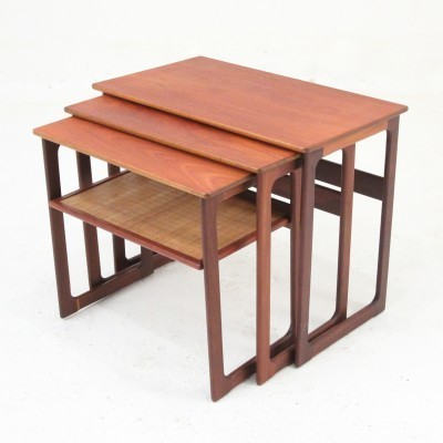 Nesting table from the fifties by Johannes Andersen for CFC Silkeborg