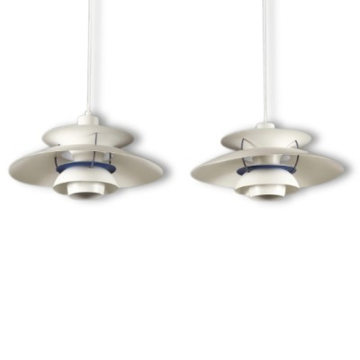 Pair of PH 5 hanging lamps by Poul Henningsen for Louis Poulsen, 1990s