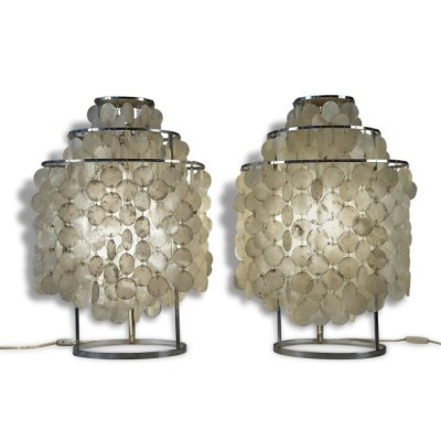 Set of 2 Fun desk lamps from the fifties by Verner Panton for J. Lüber