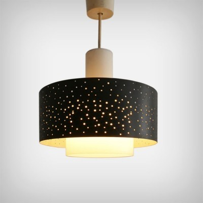 German Starry Night Pendant Light by Ernst Igl for Hillebrand, 1950s