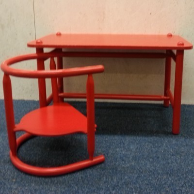 Anna Children's table & chair by Karin Mobring for Ikea, 1960s