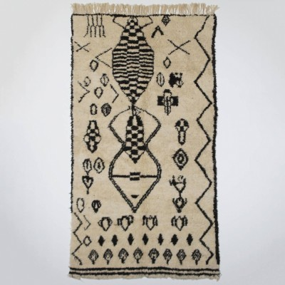 Moroccan Beni Ourain Rug by unknown designer for unknown producer