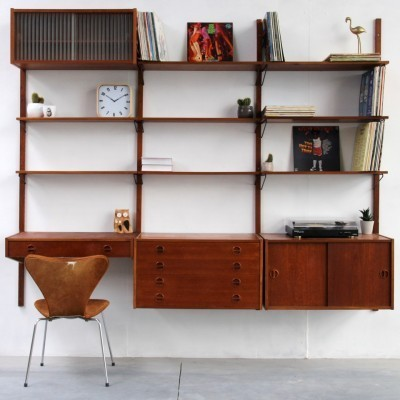 Royal System wall unit by Poul Cadovius for Royal System, 1940s