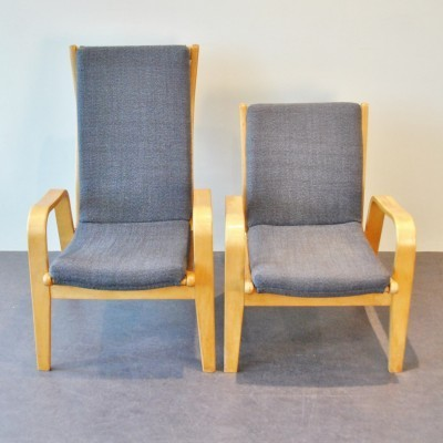 Set of 2 FB-05 & FB-06 lounge chairs from the fifties by Cees Braakman for Pastoe