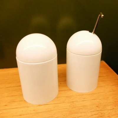 Salt Cellar & Pepper Grinder from the seventies by Enzo Mari for Danese