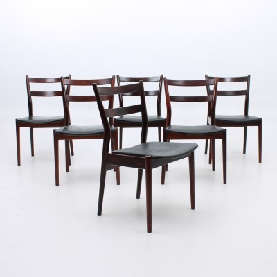 Set of 6 dinner chairs from the sixties by Arne Vodder for Sibast