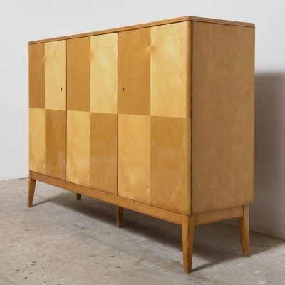Belgium Design Satin-wood High Sideboard, 1950s
