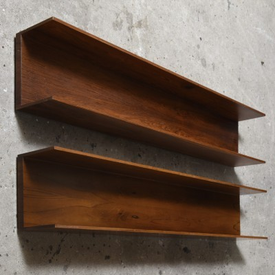 4 Shelves wall units from the sixties by Walter Wirz for Wilhelm Renz