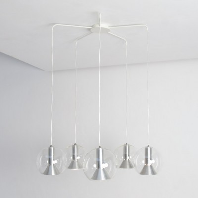 2 hanging lamps from the sixties by unknown designer for Raak Amsterdam