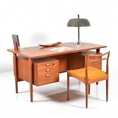 FM 60 writing desk by Kai Christiansen for Feldballes Møbelfabrik, 1960s