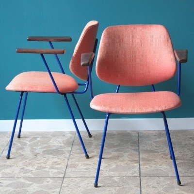 3 dinner chairs from the fifties by Wim Rietveld for Kembo
