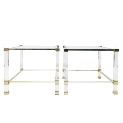 Set of 2 side tables from the seventies by Pierre Vandel for unknown producer