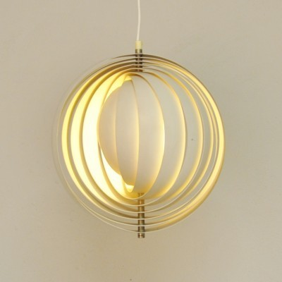 Moon Pendant hanging lamp from the fifties by Verner Panton for Louis Poulsen