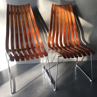 2 x Scandia dining chair by Hans Brattrud for Hove Möbler