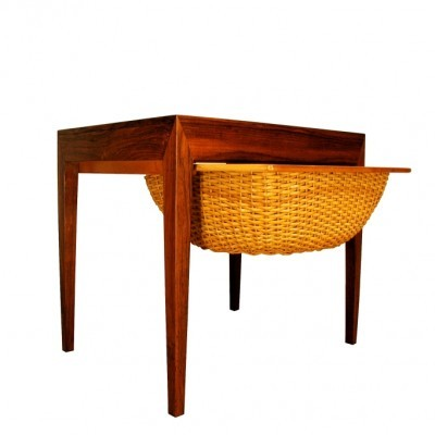 Sewing Table side table from the fifties by Severin Hansen for Haslev
