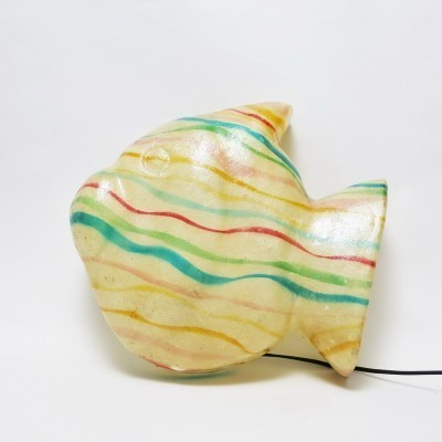 Fish wall lamp, 1980s