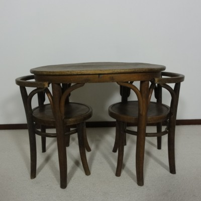 Thonet Children's table & chairs, 1930s